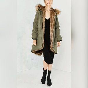 Silence & Noise Aspen Faux Fur Lined Parka-S-$229